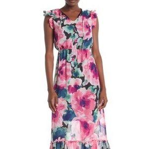 Nicole Miller Studio Pink Floral Dress